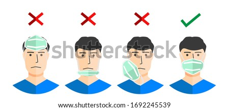 Coronavirus disease (COVID-19) advice for the public: how to use masks, wear a mask if you are taking care of a person with suspected 2019-nCoV infection.how to wear a protective mask correctly