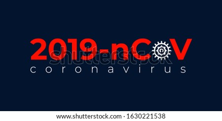 Coronavirus, 2019-nCoV letters elements logo banner, human are showing coronavirus symptoms and risk factors. health and medical vector illustration.
