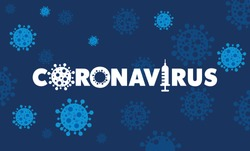 Coronavirus 2019-nCov novel coronavirus concept responsible for illness outbreak and coronaviruses influenza as dangerous flu strain cases as a pandemic. Microscope virus close up logo type design.