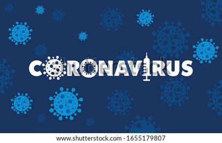 Coronavirus 2019-nCov novel coronavirus concept responsible for illness outbreak and coronaviruses influenza as dangerous flu strain cases as a pandemic. Microscope virus close up logo type design.