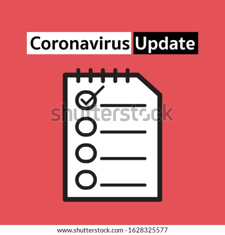 coronavirus update concept for infectious Stock photo ©