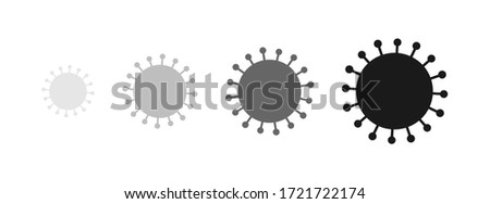 Coronavirus virus SARS-CoV-2 model symbol shape. Vector illustration.