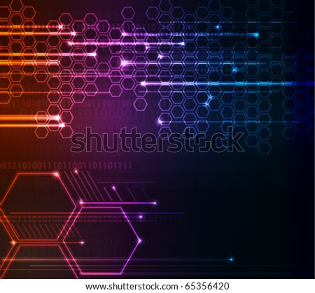 Corporate abstract modern glowing  background