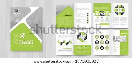 Corporate Annual Report with a cover. Brochure, Folder, Presentation, Leaflet. A4 format. Stock photo ©