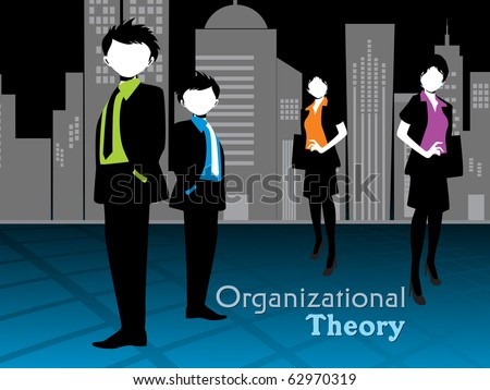 corporate background with business women - stock vector