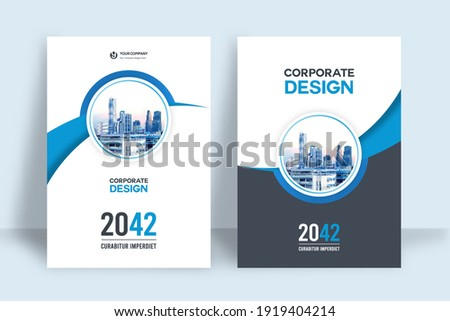 Corporate Book Cover Design Template in A4. Can be adapt to Brochure, Annual Report, Magazine,Poster, Business Presentation, Portfolio, Flyer, Banner, Website. Foto d'archivio ©