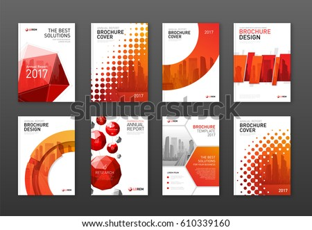 Corporate brochure cover design templates set. Good for catalog, annual report, poster or flyer.