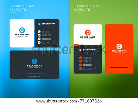 Blue creative visiting card vector download free vector art stock corporate business card print template vertical and horizontal business card templates vector illustration fbccfo Image collections