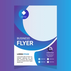 Corporate Business Flyer, poster, pamphlet, brochure, cover design layout with graphic elements, two colors scheme, vector template in A4 size Vector.Brochure template layout, cover design