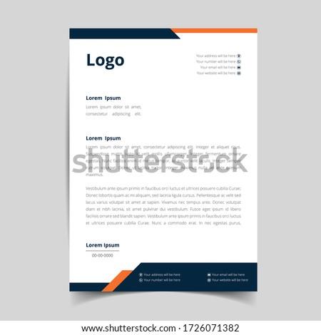 Corporate Business Letterhead, Elegant and minimalist style letterhead template design full Vector.