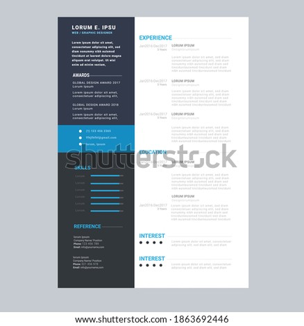 corporate business reflet flyer bochure resume design Foto stock ©