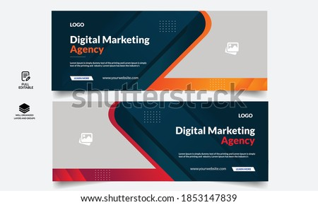 Corporate business social media design Facebook cover template web banner template