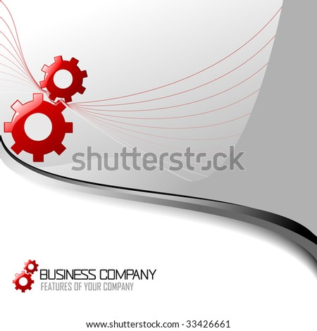 Corporate Business Template Background and icon. Vector illustration