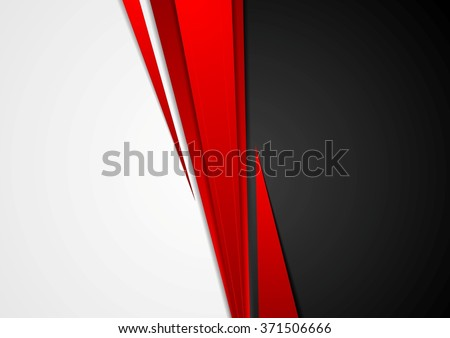 corporate concept red black