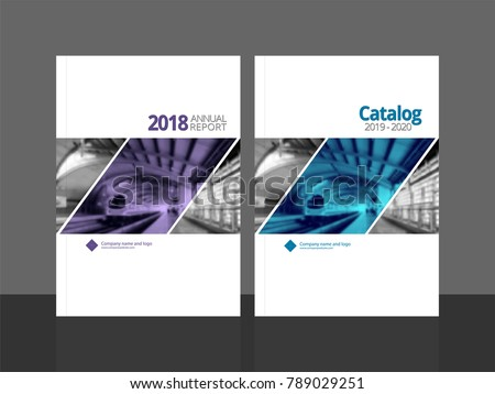 Corporate cover design for annual report and business catalog, magazine, flyer or booklet. Brochure template layout. A4 cover vector EPS-10 sample image with Gradient Mesh.