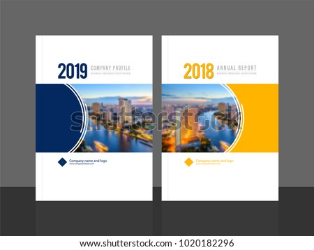 Corporate cover design for annual report and company profile, magazine, flyer or booklet. Business brochure template layout. A4 cover vector EPS-10 sample image with Gradient Mesh.