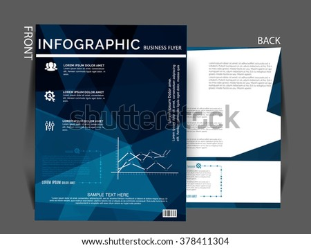 corporate flyer banner e mailer design template vector graphic