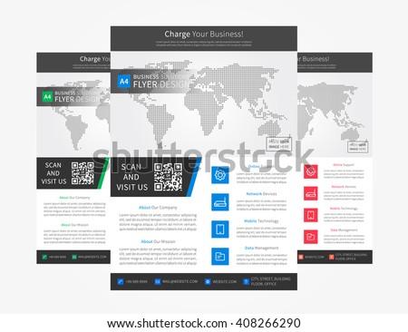 Corporate Flyer Leaflet Brochure Report Booklet Layout Vector Design On White