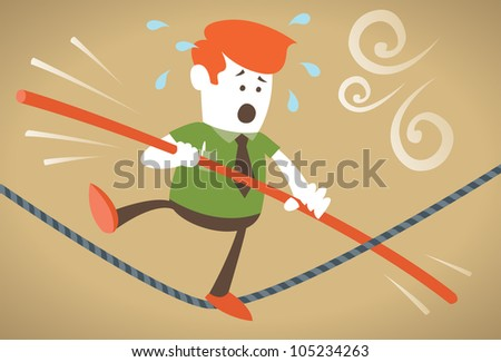 Corporate Guy walks the tightrope