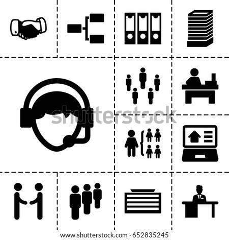 corporate icon set of 13
