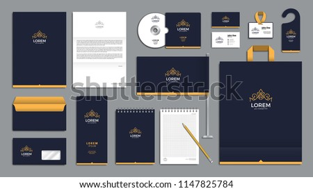 Corporate identity branding template. Vector company style for brandbook.