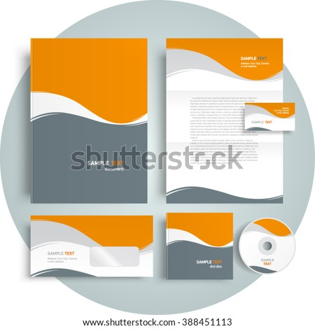 Corporate identity design template abstract curves ez canvas corporate identity design template abstract curves maxwellsz