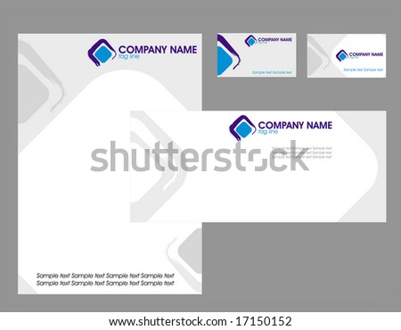 Corporate identity elements with logo, envelope