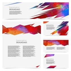Corporate identity kit or business kit with artistic, abstract geometric element for your business.