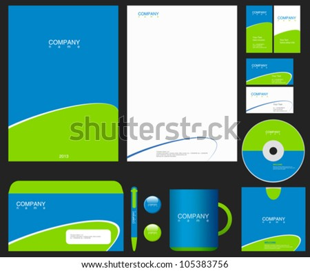 Corporate Identity. Place your Logo. Vector. Editable.