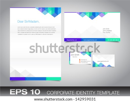 Free blue vector letterhead design download free vector art stock corporate identity set or kit for your business including business card envelope and letter templates cheaphphosting Image collections