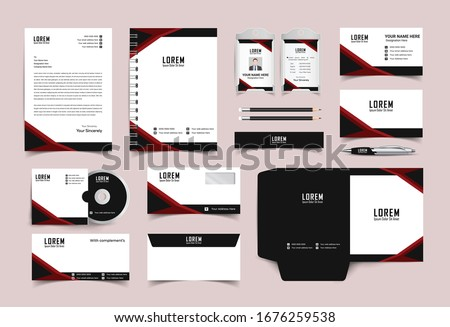 Corporate Identity Set. Stationery Template Design Kit. Branding Template Editable Brand Identity pack.Business Company and Finance Vector