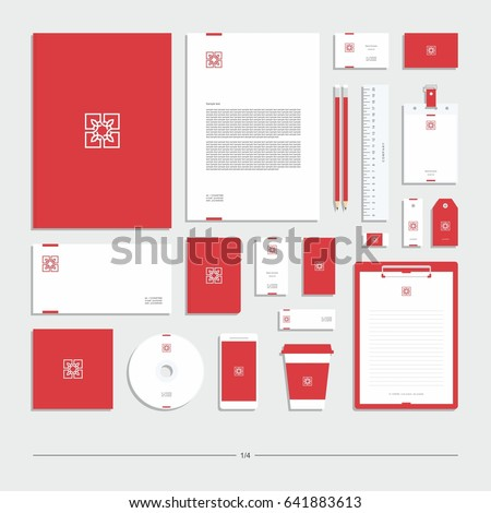Corporate identity, stationery set.