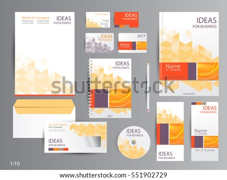 Corporate identity template for… Stock Photo 459527224