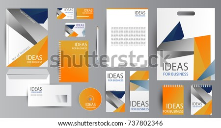 Corporate identity template design. Business stationery. #737802346