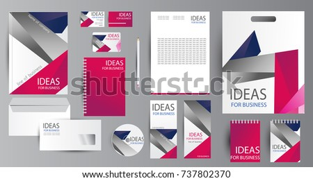 Corporate identity template design. Business stationery. #737802370