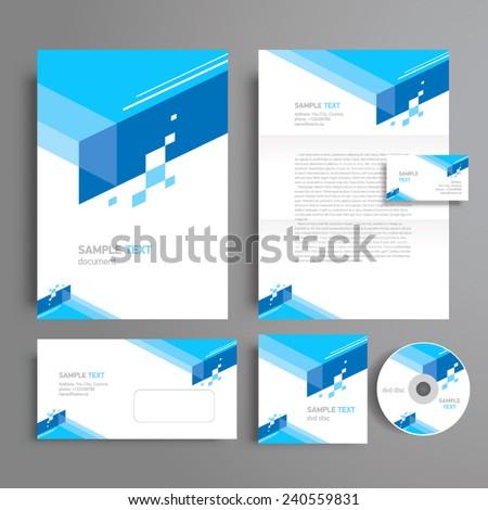 corporate identity template design geometric abstract, cmyk profile
