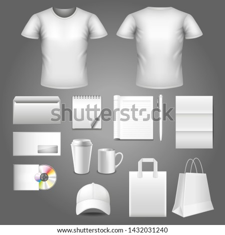 Corporate identity template detailed photo realistic vector set #1432031240