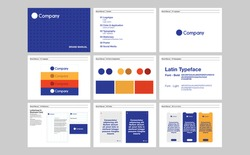 Corporate identity template set. Brand book design.