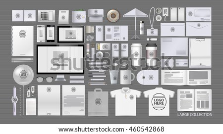 Corporate identity template set. Branding design. blank template. Business stationery mock-up with logo.. large collection.