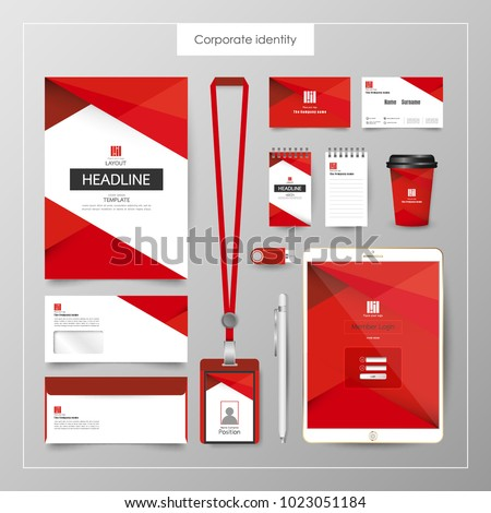 Corporate Identity template value design. Business cover branding mockup of logo template on  background layout. Vector premium pattern Illustration.