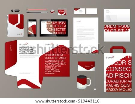 Corporate identity template. Vector illustration.