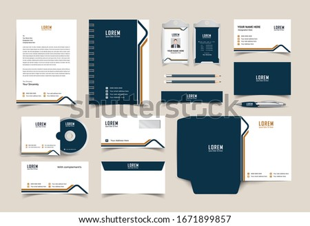 corporate identity template with digital elements. Vector company style for brand book and guideline. EPS 10 Foto d'archivio ©