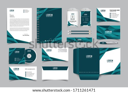 corporate identity template with digital elements. Vector company style for brand book and guideline. EPS 10 Foto stock ©