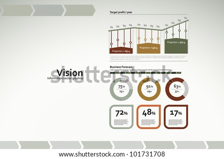 Corporate infographics for reports and presentations