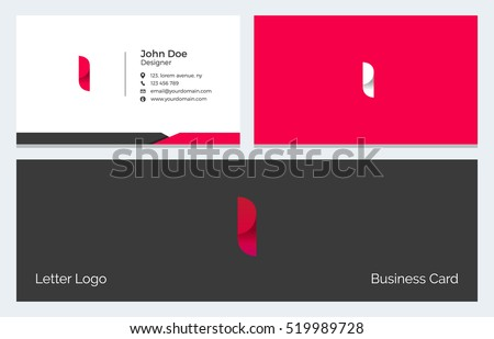 Corporate Minimal Business Visiting Card with Alphabet letter I