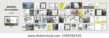 Corporate presentation template. Social media pack. Set of modern blog posts or Editable simple info banner, trendy book cd idea. For app, digital display style. Bright flyer. In Black White color