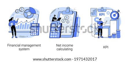 Corporate profit abstract concept vector illustrations.