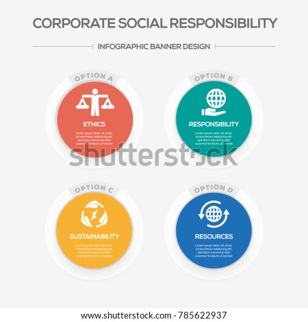 Corporate Social Responsibility  Infographic Icons