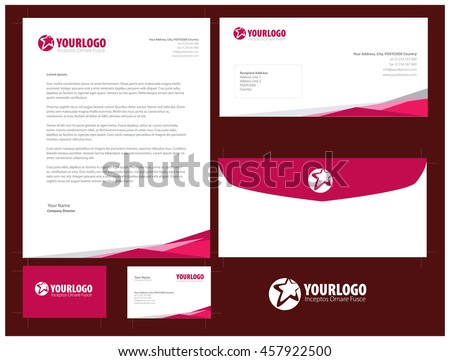 Free stationery design template download free vector art stock corporate stationery template design cheaphphosting Image collections