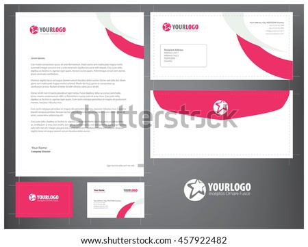 Free stationery design template download free vector art stock corporate stationery template design combination line elements accmission Image collections